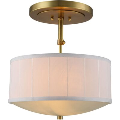 Blythe 2-Light Drum Pendant Finish: Burnished Brass