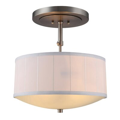 Blythe 2-Light Drum Pendant Finish: Vintage Nickel
