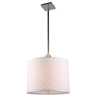 Raisa 2-Light Drum Pendant Finish: Polished Nickel