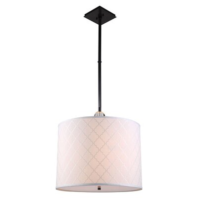 Raisa 2-Light Drum Pendant Finish: Bronze