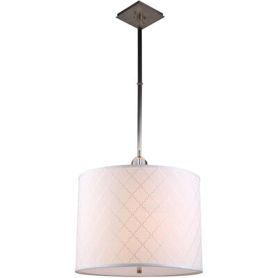Raisa 2-Light Drum Pendant Finish: Vintage Nickel