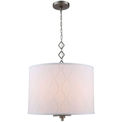 Marbleton 4-Light Drum Pendant Finish: Vintage Nickel