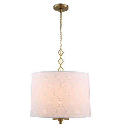 Marbleton 4-Light Drum Pendant Finish: Burnished Brass