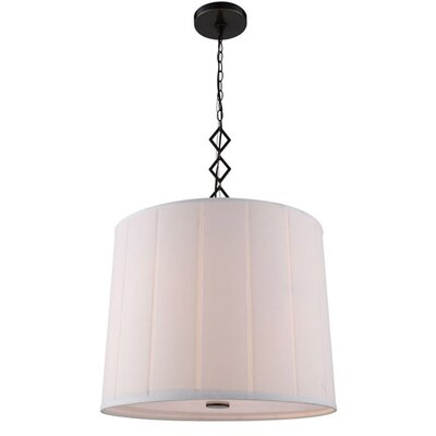 Luna 2-Light Drum Pendant Finish: Bronze