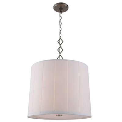 Ramonita 2-Light Drum Pendant Finish: Vintage Nickel