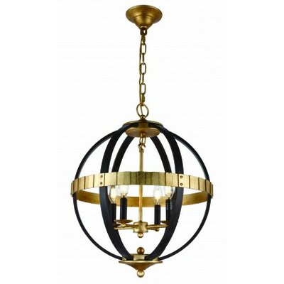 Closter 4-Light LED Globe Pendant