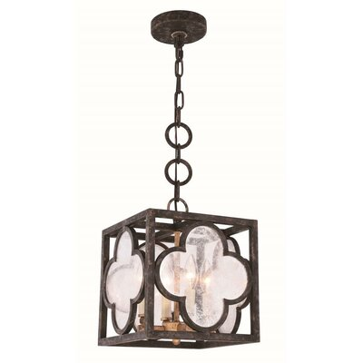 Angelo Transitional 4-Light Foyer Pendant Finish: Aged Copper, Size: 24.5 H x 22 W x 22 D