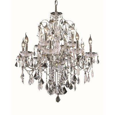 Thao 12-Light Chain Crystal Chandelier Finish: Chrome, Crystal Trim: Spectra Swarovski