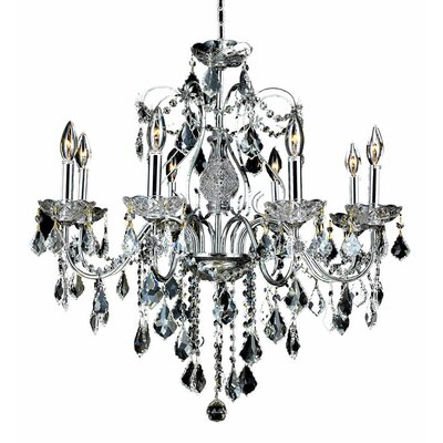 Thao 8-Light Chain Crystal Chandelier Finish: Gold, Crystal Trim: Elegant Cut