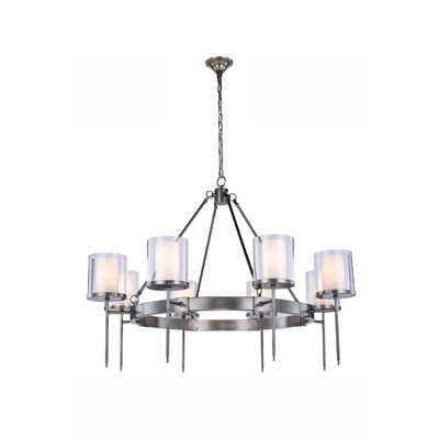 Simmon 6-Light Shaded Chandelier Finish: Vintage Nickel