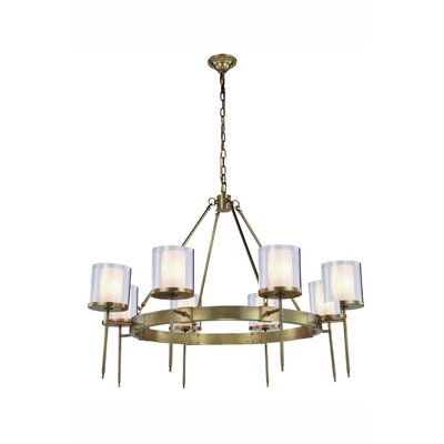 Simmon 8-Light Shaded Chandelier Finish: Burnished Brass