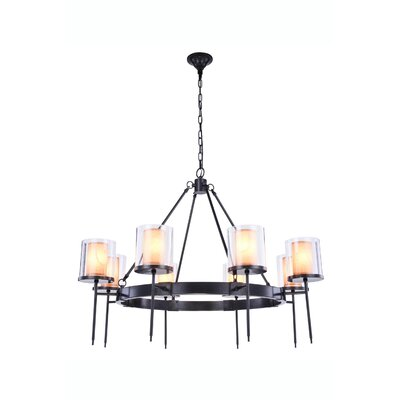 Simmon 8-Light Shaded Chandelier Finish: Bronze