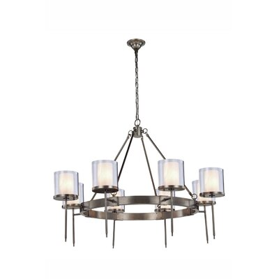 Simmon 8-Light Shaded Chandelier Finish: Vintage Nickel