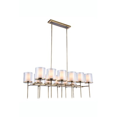 Simmon 12-Light Kitchen Island Pendant Finish: Burnished Brass