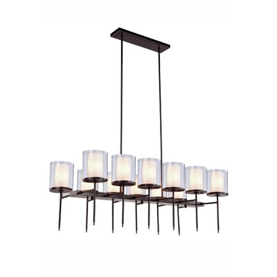 Simmon 12-Light Kitchen Island Pendant Finish: Bronze