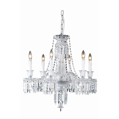 Leonardo 6-Light Foyer Pendant Finish: Chrome, Size: 26 H x 27 W x 27 D