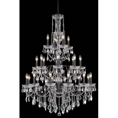 Thao 24-Light Crystal Chandelier Crystal Grade: Royal Cut, Finish: Dark Bronze