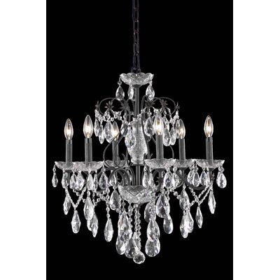 Thao Traditional 6-Light Chain Crystal Chandelier Crystal Grade: Royal Cut