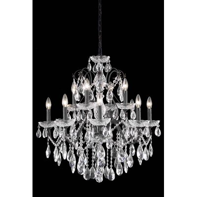 Thao 12-Light Chain Crystal Chandelier Crystal Grade: Royal Cut