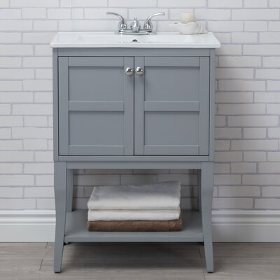 Wynkoop 24 Single Bathroom Vanity Set Base Finish: Gray