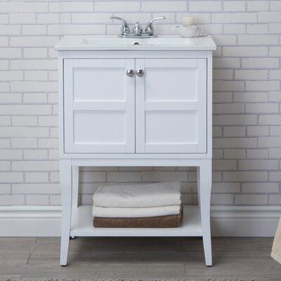Wynkoop 24 Single Bathroom Vanity Set Base Finish: White