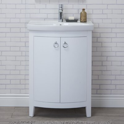 Wynkoop 24 Single Bathroom Vanity Set Base Finish: White