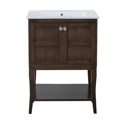 Wynkoop 24 Single Bathroom Vanity Set Base Finish: Antique Coffee