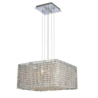 Moda 5-Light Kitchen Island Pendant Crystal Color / Crystal Trim: Crystal (Clear) / Elegant Cut