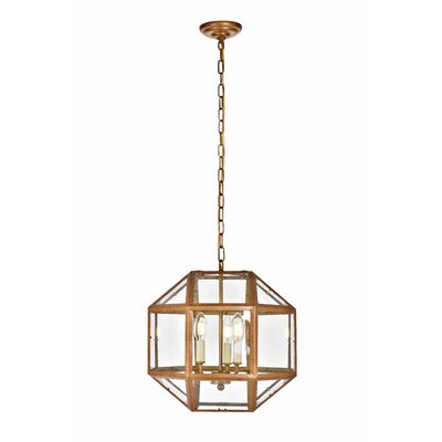 Burkeville 3-Light Foyer Pendant Finish: Vintage Gold