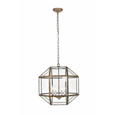 Burkeville 4-Light Foyer Pendant Finish: Vintage Silver