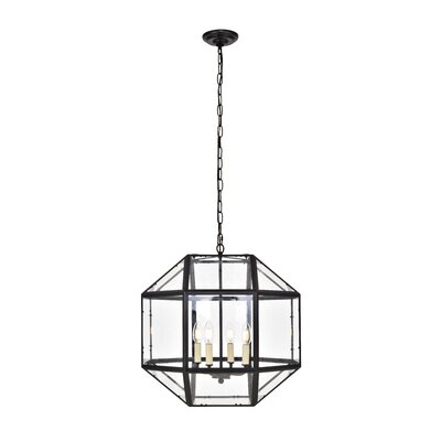 Burkeville 4-Light Foyer Pendant Finish: Black
