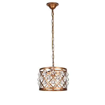Westbourne 1-Light Mini Pendant Finish: Vintage Gold