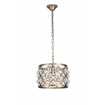 Westbourne 1-Light Mini Pendant Finish: Vintage Silver