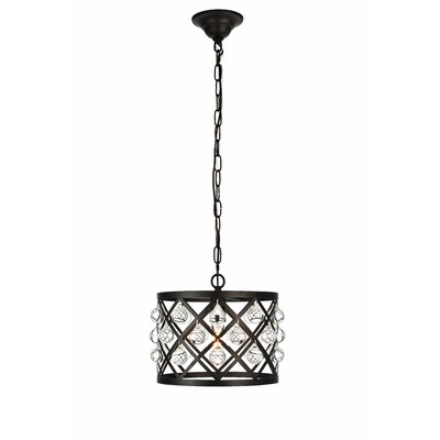 Westbourne 1-Light Mini Pendant Finish: Black