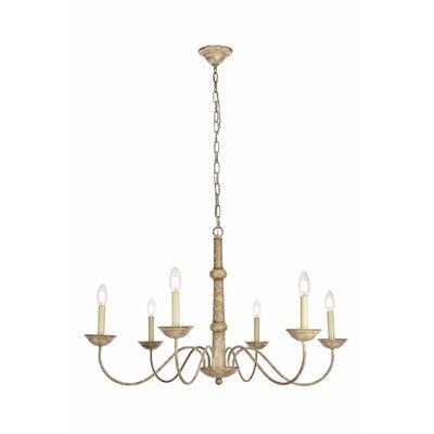 Seneca 6-Light Candle-Style Chandelier Size: 84 H x 35 W x 35 D