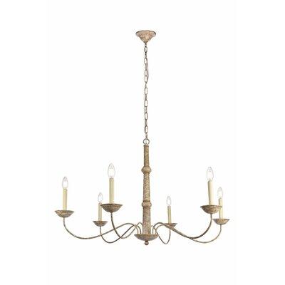 Seneca 6-Light Candle-Style Chandelier Size: 86.4 H x 39.8 W x 39.8 D