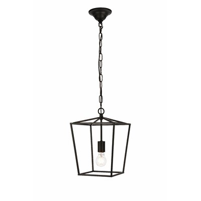 Sennett 1-Light Mini Pendant Finish: Black