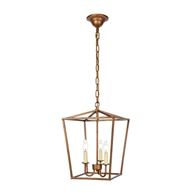 Sennett 3-Light Foyer Pendant Finish: Vintage Gold