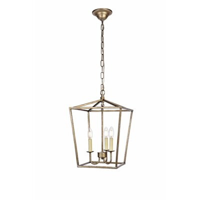 Sennett 3-Light Foyer Pendant Finish: Vintage Silver