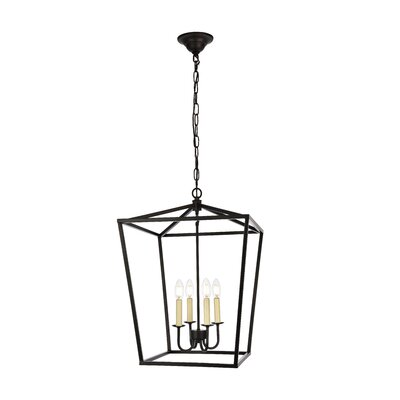Sennett 4-Light Foyer Pendant Finish: Black