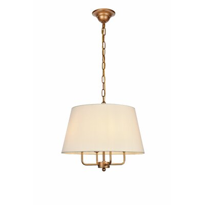 Stockton 4-Light Drum Pendant Finish: Gold