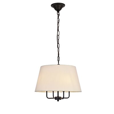 Stockton 4-Light Drum Pendant Finish: Black