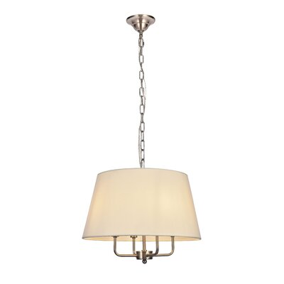 Stockton 4-Light Drum Pendant Finish: Burnished Nickel