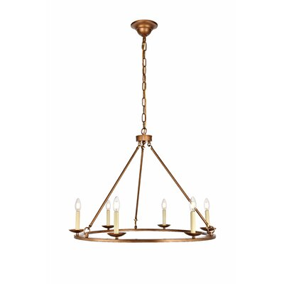 Stony Creek 6-Light Candle-Style Chandelier Finish: Vintage Gold