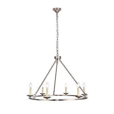 Stony Creek 6-Light Candle-Style Chandelier Finish: Burnished Nickel