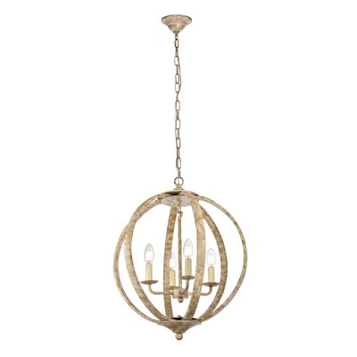 Stouffer 4-Light Globe Pendant Finish: Weathered Dove