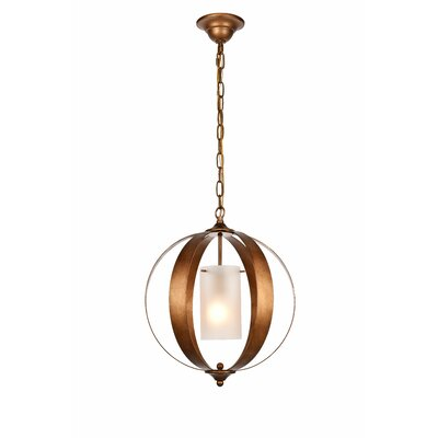 Aldana 1-Light Globe Pendant Finish: Vintage Gold