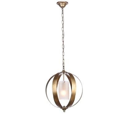 Aldana 1-Light Globe Pendant Finish: Vintage Silver