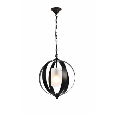 Aldana 1-Light Globe Pendant Finish: Black