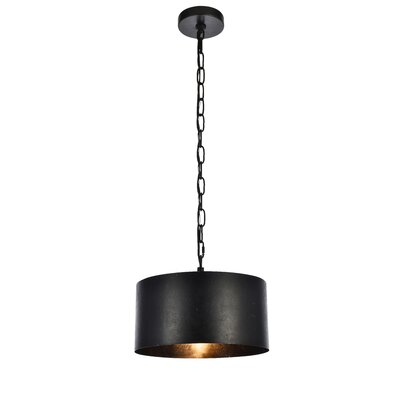 West Sacramento 1-Light Mini Pendant Finish: Vintage Black